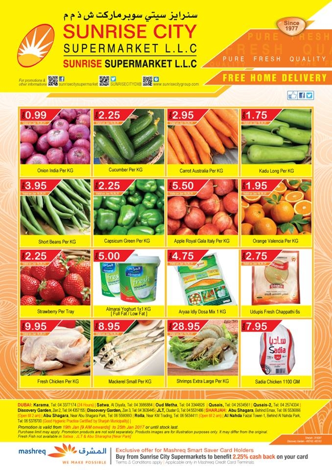 Sunrise City Supermarket Weekend Offers