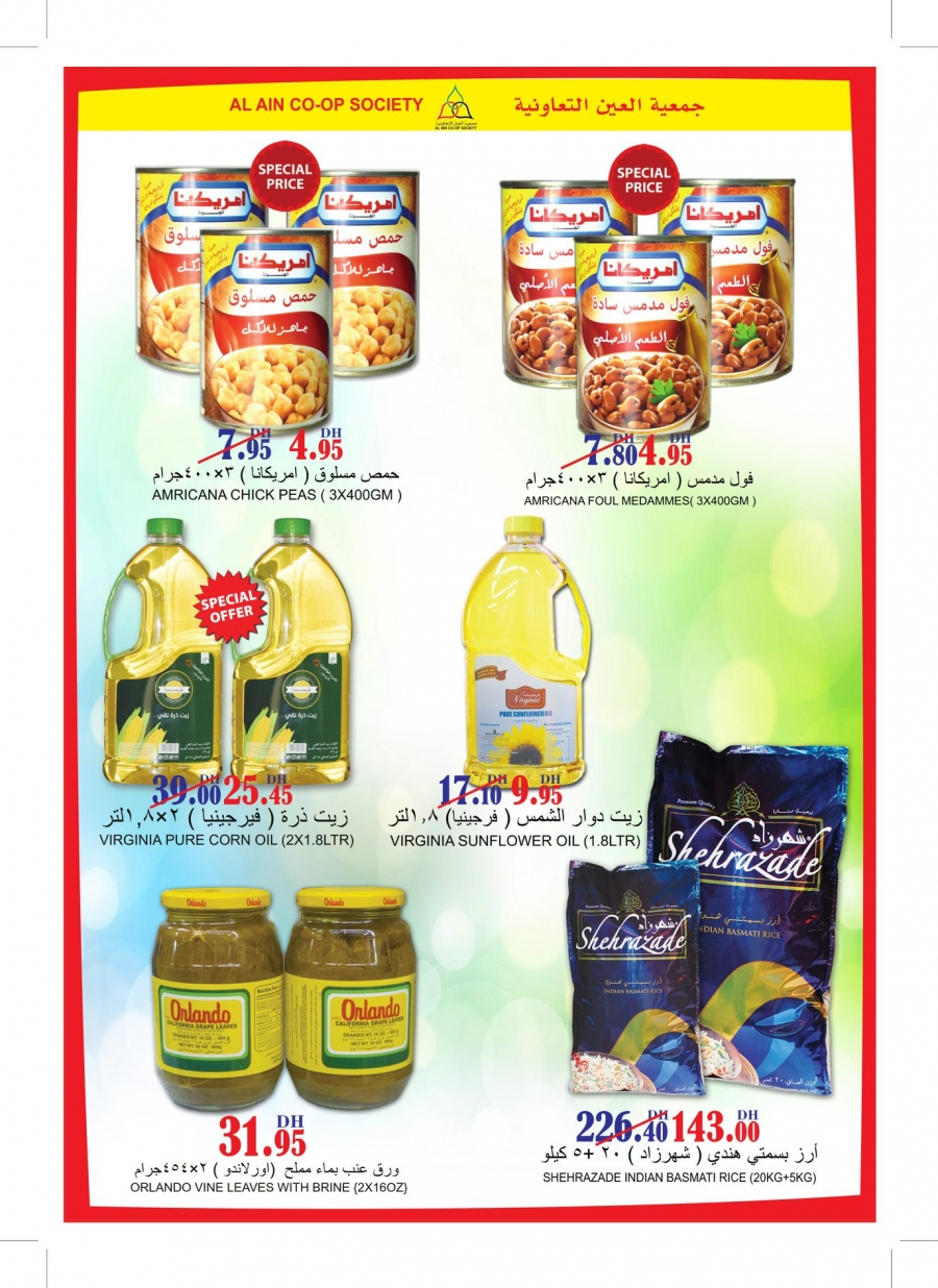 Al Ain Co-op Society Special Offers