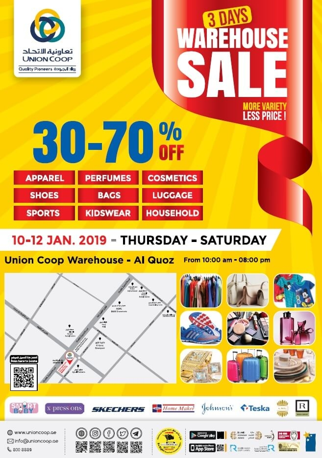 Union Coop  Warehouse Sale
