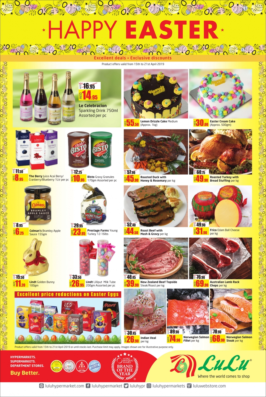 Lulu Hypermarket Happy Easter Offers