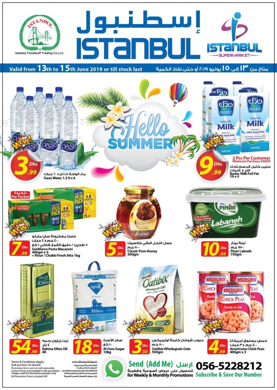 Istanbul Supermarket Hello Summer Offers