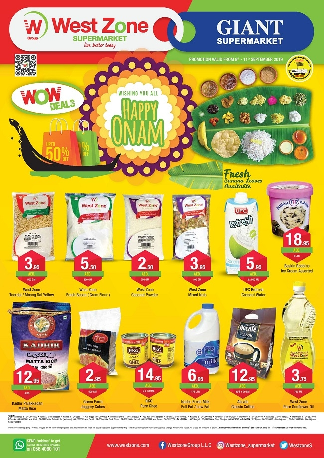 West Zone Supermarket Happy Onam Offers