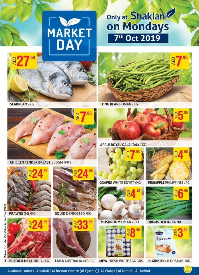 Shaklan Market Day Offers 7 October 2019
