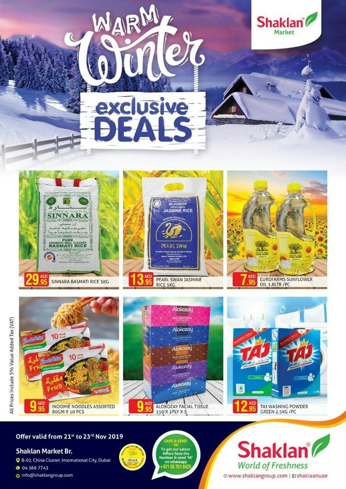 Shaklan Market Winter Exclusive Deals