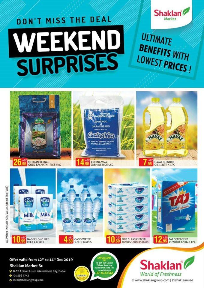 Shaklan Market Weekend Surprises Offers