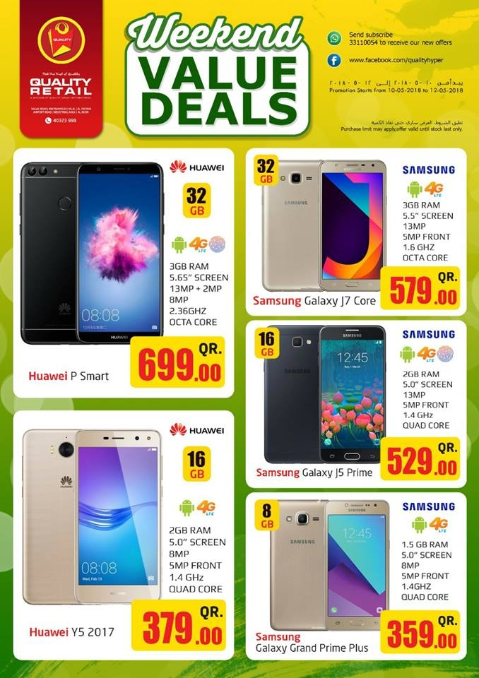 Weekend Value Deals at Quality Retail