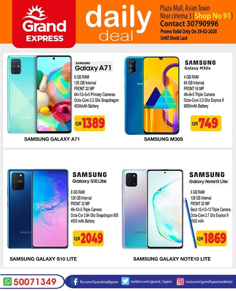 Grand Express Asian Town Daily Deals 29 February 2020