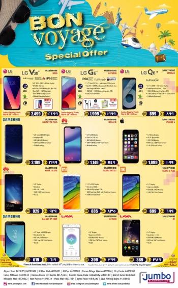 Jumbo Electronics Bon Voyage Offers