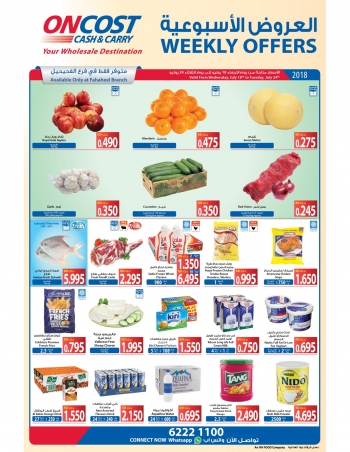 Oncost Oncost Cash & Carry Special Weekly Offers