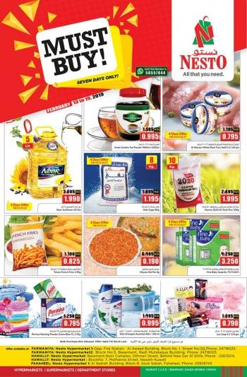 Nesto Nesto Hypermarket  Must Buy Deals