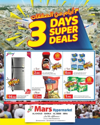 Mars Hypermarket  3 Days Super Deals In Oman