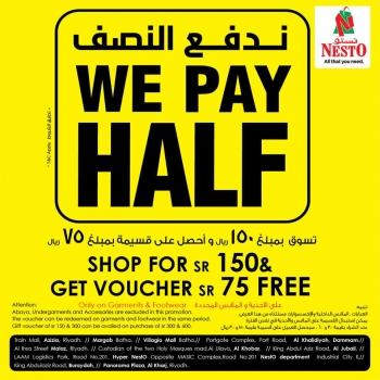 Nesto Nesto Hypermarket We Pay Half Offers
