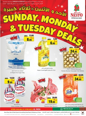 Nesto Sunday, Monday & Tuesday Deals