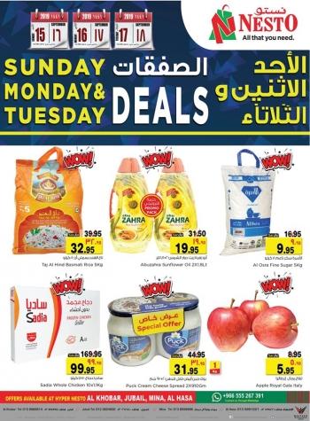 Nesto Nesto Sunday, Monday & Tuesday Great Offers