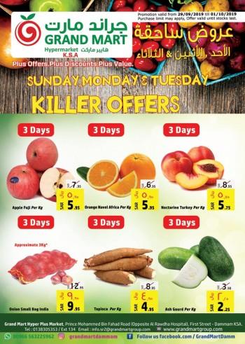 Grand Mart Grand Mart Hypermarket Killer Offers
