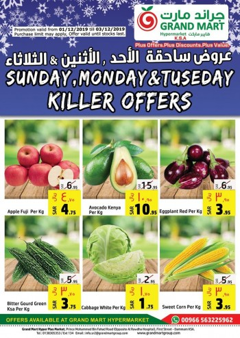 Grand Mart Grand Mart Dammam 3 Days Killer Offers