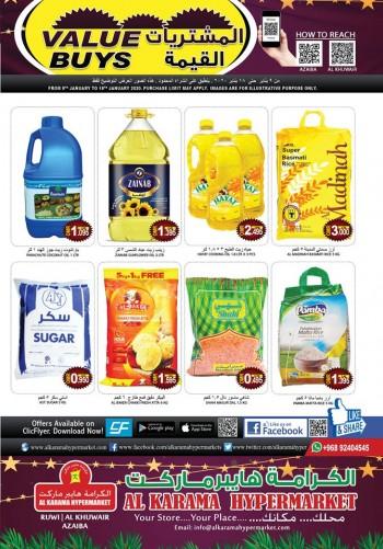 Al Karama Al Karama Hypermarket January Value Buys Offers