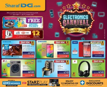 Sharaf DG Electronics Carnival Offers