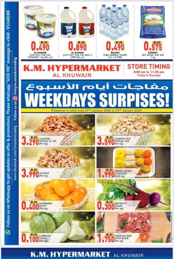 KM Trading KM Hypermarket Weekdays Surprises Offers