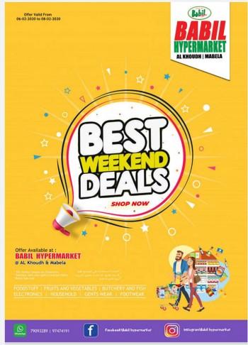 Babil Hypermarket Best Weekend Deals