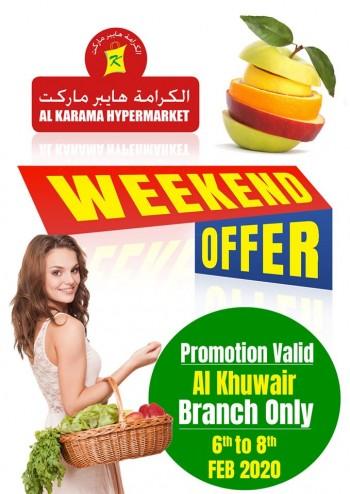 Al Karama Al Karama Hypermarket Al Khuwair Weekend Offers