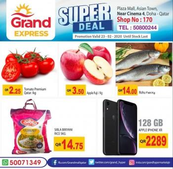 Grand Grand Express Super Deals 23 February 2020