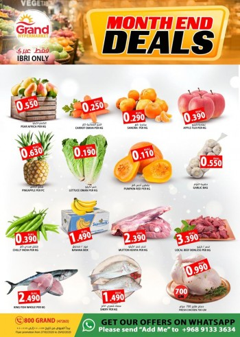 Grand Hypermarket Ibri Month End Deals