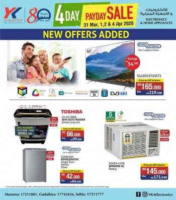 YK Almoayyed Electronics 4 Day Payday Sale