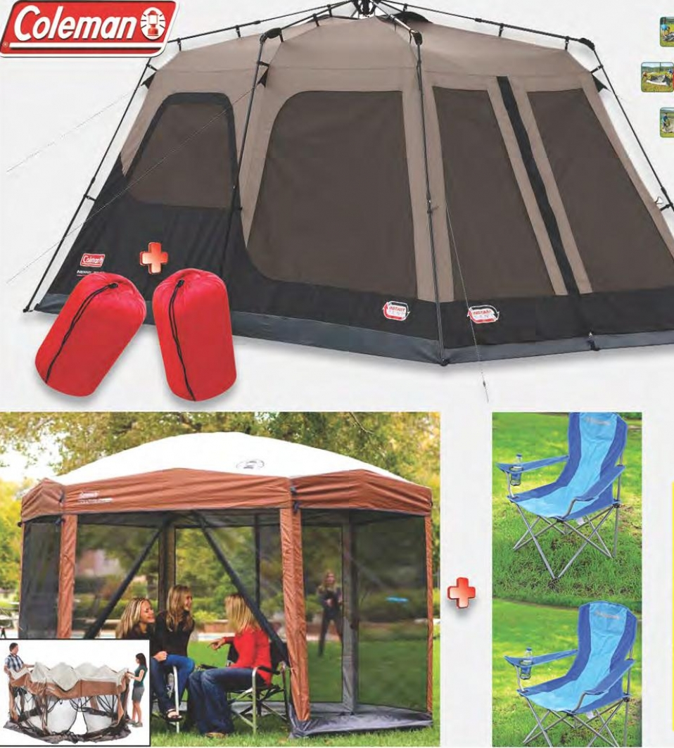 coleman-instant-screened-canopy-tent-uv-protection-12x1- & Coleman Instant Screened Canopy Tent Uv Protection 12x1 Oft 2 ...
