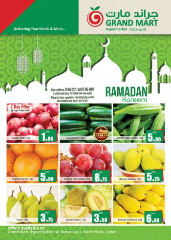 Grand Mart Ramadan Kareem Offers