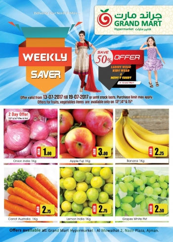 Grand Mart Weekly Saver 13-19 July