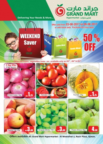Grand Mart Weekend Saver 3-9 August