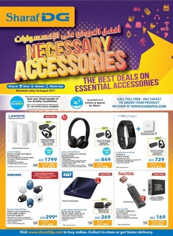 Sharaf DG Necessary Accessories