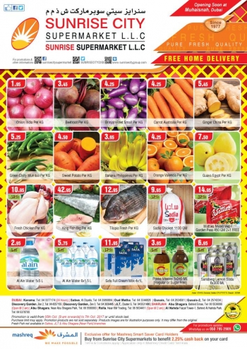 Sunrise City Supermarket Weekend Offers 5-7 October