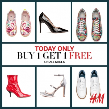 H & M Buy 1 Get 1 Free On All Shoes