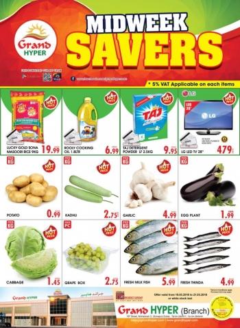 Grand Hypermarket Grand Hyper Midweek Savers Offers