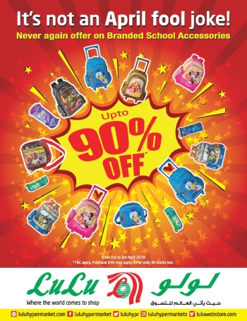 Lulu Up to 90% Off on Branded School Accessories
