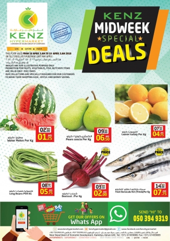 Kenz Kenz Midweek Special Deals
