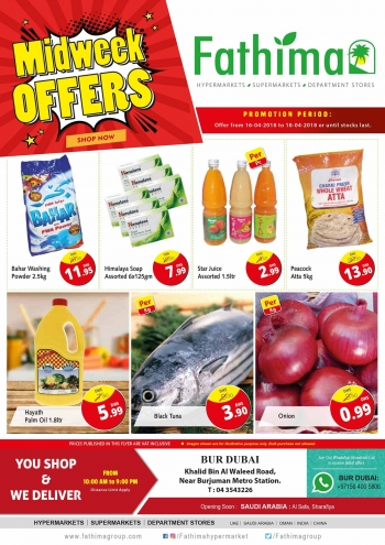Fathima Midweek Offers at Fathima Hypermarket