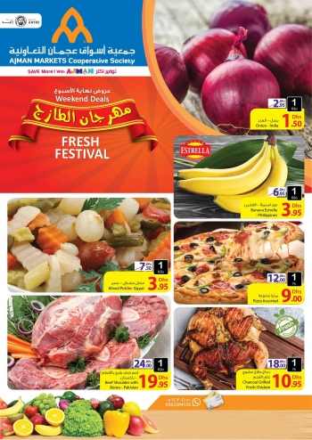 Ajman Markets Co-op Society Weekend Fresh Festival Offers at Ajman Markets Co-op Society