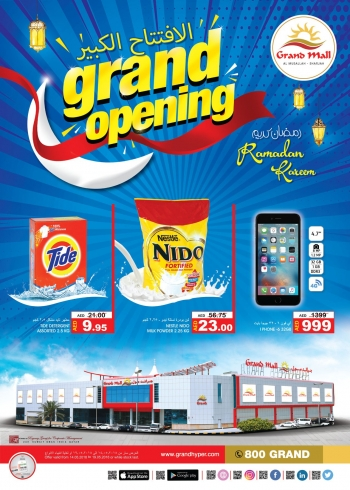 Grand Hypermarket Grand Mall Grand Opening Offers