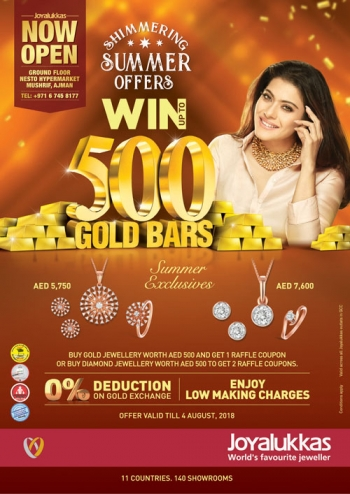 Joy Alukkas Joy Alukkas Win 500 Gold Bars