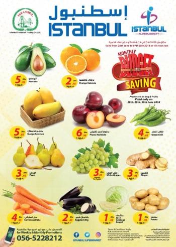 Istanbul Supermarket Istanbul Supermarket Monthly Budget Saving