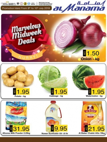 Al Manama Marvelous Midweek Offers at Al Manama Hypermarket