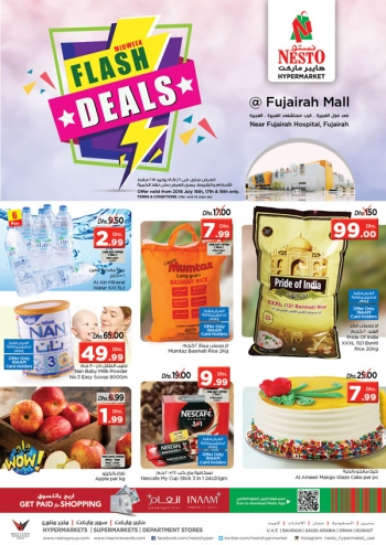 Nesto Nesto Hypermarket Flash Deals in Fujairah