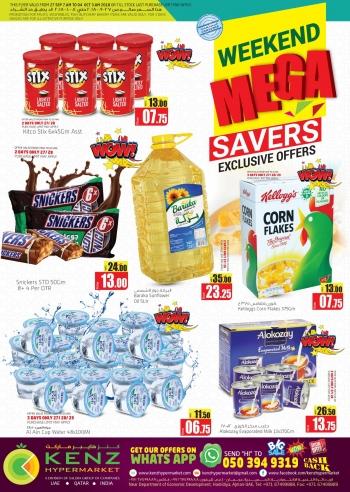 Kenz Kenz Hypermarket Mega Saver Week End Deals