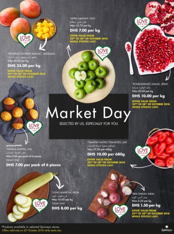 Spinneys Spinneys Market Day Offers  22 October