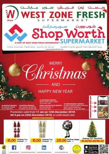 West Zone Fresh Supermarket West Zone Fresh Supermarket Christmas & New Year offers