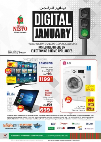 Nesto Hypermarket Digital January Offers