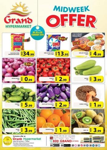Grand Hypermarket  Grand Hypermarket Midweek Offer in Jebel Ali